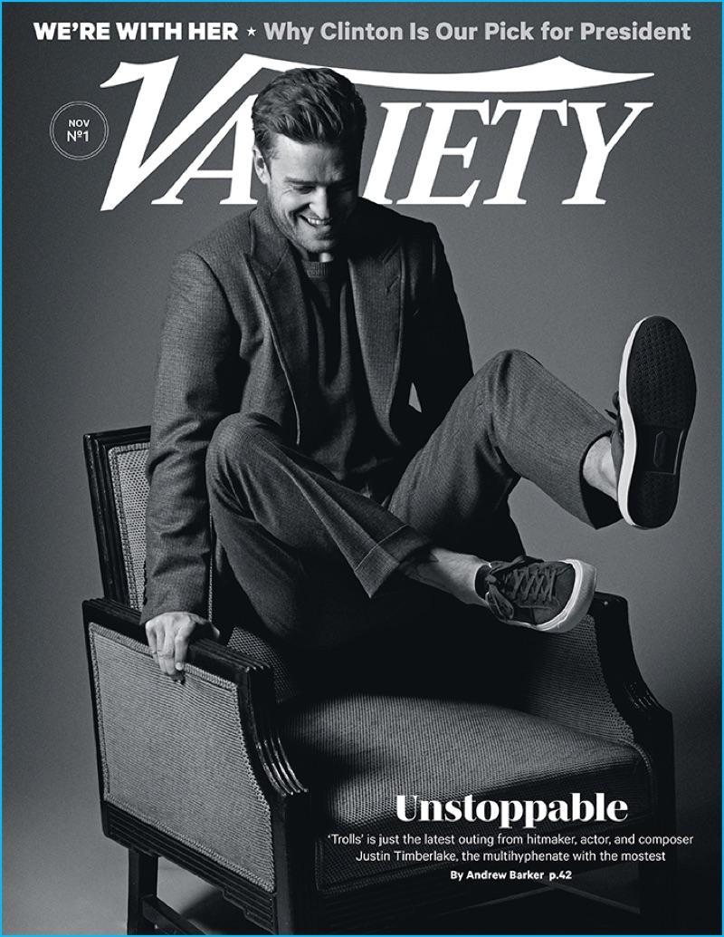 Justin Timberlake covers Variety magazine.