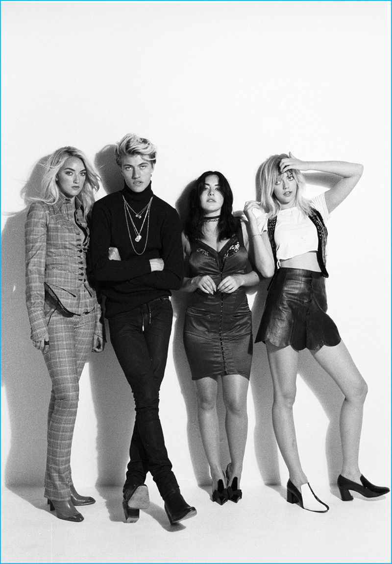 A Cool Vision Lucky Blue Smith Appears In Paper Magazine With His Three Sisters