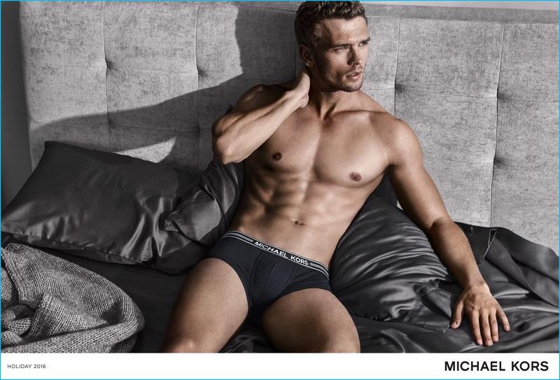 Arnaldo Anaya-Lucca photographs Benjamin Eidem for Michael Kors' 2016 underwear campaign.