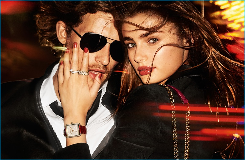 Wouter Peelen and Taylor Hill fronts MICHAEL Michael Kors' holiday 2016 campaign.