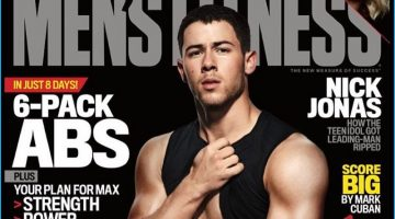 Nick Jonas Flashes His Six-Pack for Men's Fitness Cover