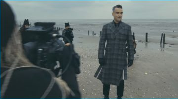 Robbie Williams Rocks Thom Browne Plaid Coat for 'Love My Life' Music Video
