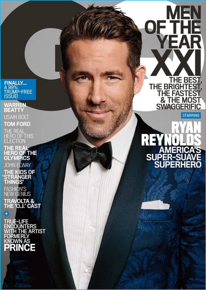 Ryan Reynolds covers the December 2016 issue of GQ.