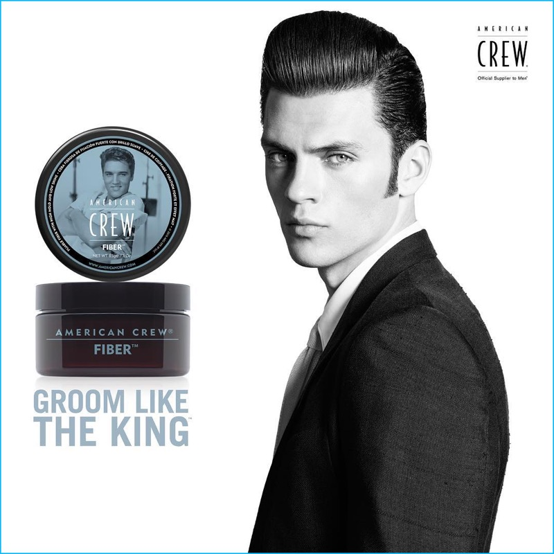 Silviu Tolu channels Elvis Presley for American Crew's latest advertising.