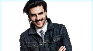 Into the Blues: Silviu Tolu Charms in Denim for Cosmopolitan Man