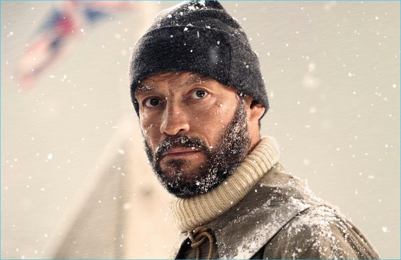 Actor Dominic West connects with Burberry, playing polar explorer, Ernest Shackleton.