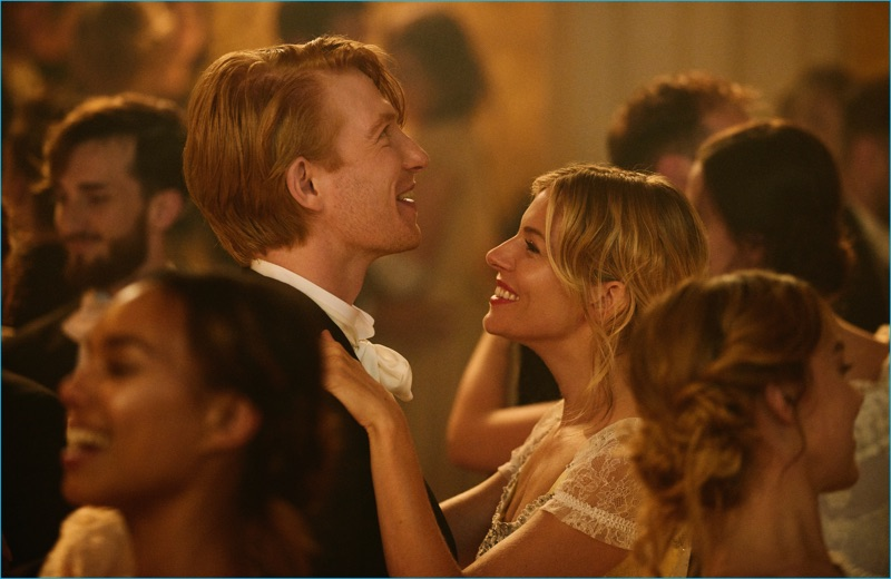 A still featuring Domhnall Gleeson and Sienna Miller in The Tale of Thomas Burberry.