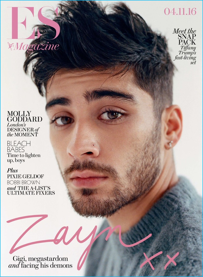 Zayn Malik covers the most recent issue of ES magazine.