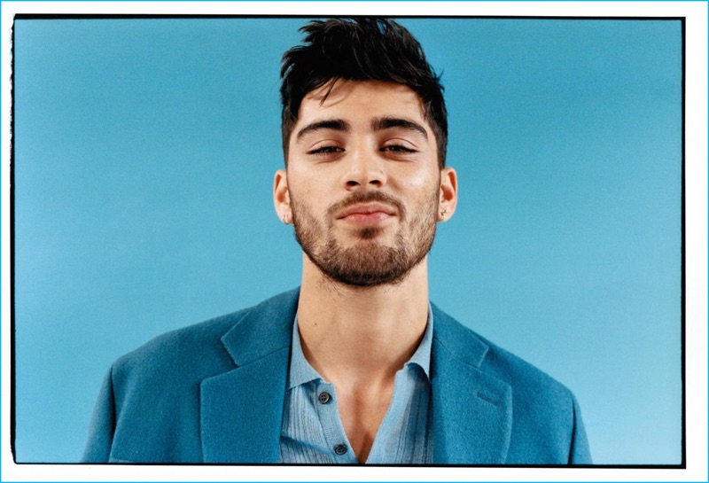 Zayn Malik charms in a Marni coat and Lanvin woven top for ES magazine.