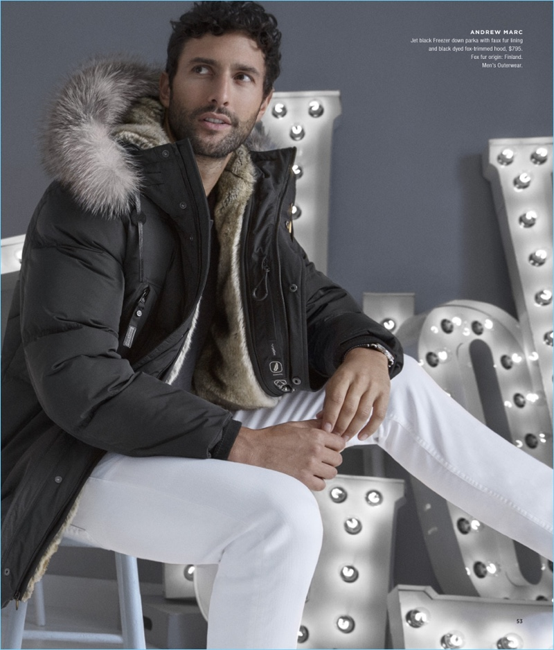 Zero Chill Noah Mills Checks Into Winter With Bloomingdale S