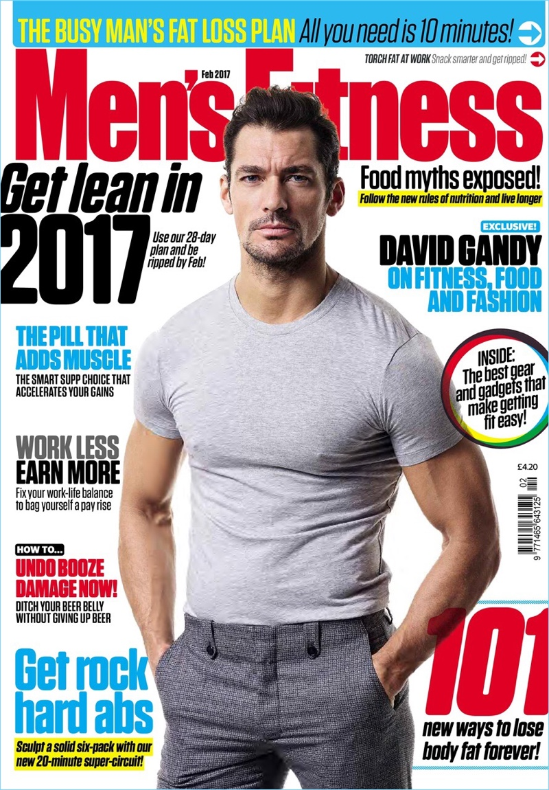 david gandy covers men�s fitness uk talks personal style