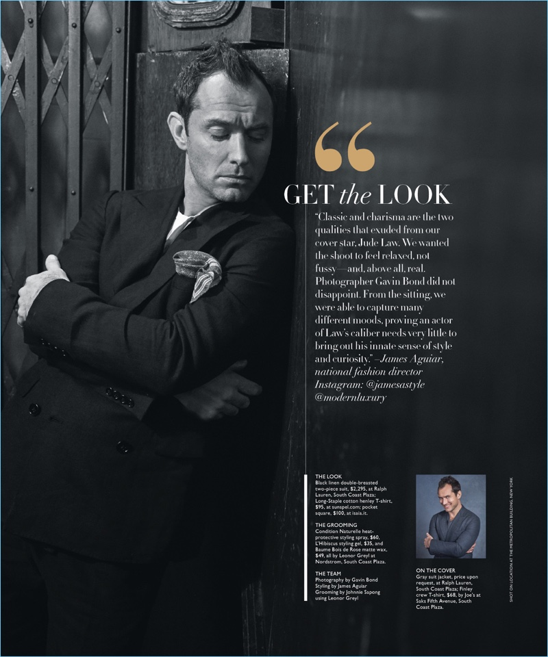 Jude Law Covers Modern Luxury Dishes On Acting Roles Accompanied By Age The Fashionisto