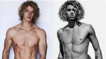 Long Hair, Don't Care: Jay Alvarrez & Chuck Bilgrien Pose for Mario Testino's Towel Series