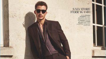 Nathaniel Visser Dons Italian Tailoring for British GQ