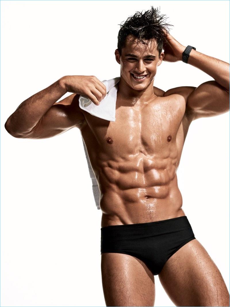 Pietro Boselli Shirtless Swimsuit GQ