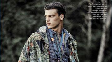 The Searcher: Filip Hrivnak Models Prada's Spring Fashions for GQ Italia