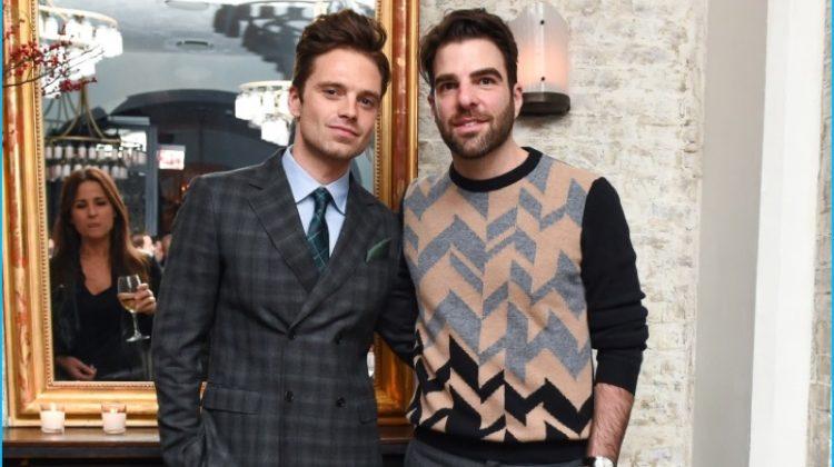 Sebastian Stan, Zachary Quinto + More Party with Esquire, Wear Salvatore Ferragamo