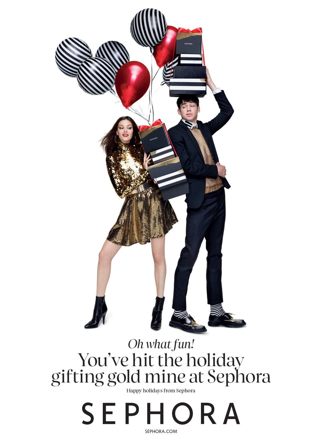 Sephora Celebrates the Holidays with Cole Mohr & Isaac Carew
