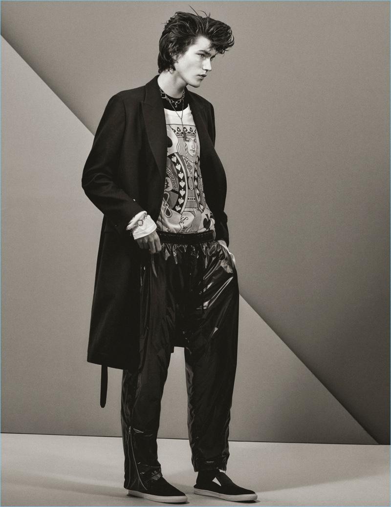 Christian MacDonald photographs Elias de Poot in a look from Stella McCartney.