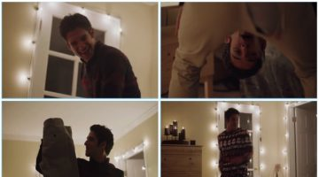 Tyler Posey Charms in Funny H&M Holiday Spot