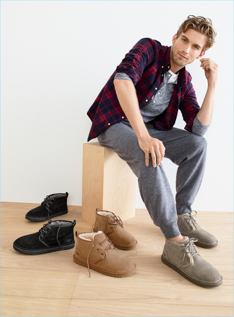 UGG caters to our need for comfort with its lined chukka boots. They look great with a pair of joggers or jeans. RJ King goes casual in a pair of UGG Neumel chukka boots.