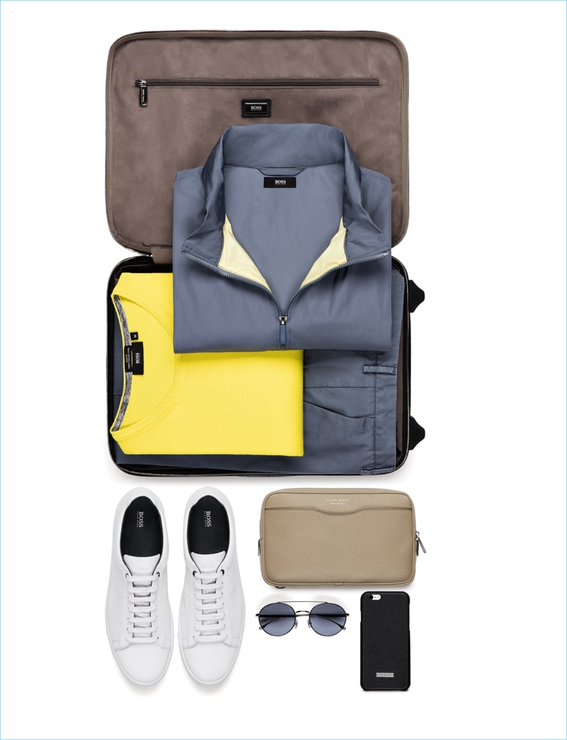 German brand BOSS Hugo Boss packs the perfect essentials with its spring-summer 2017 travel line.