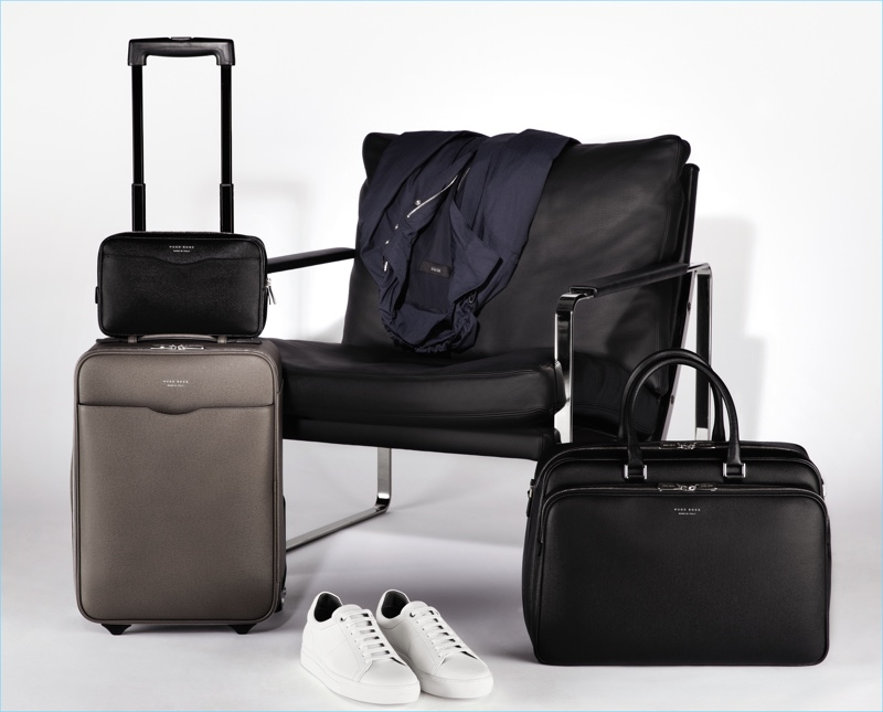 Laying out the essentials for travel BOSS Hugo Boss brings together luggage and clothing for its spring-summer 2017 line.