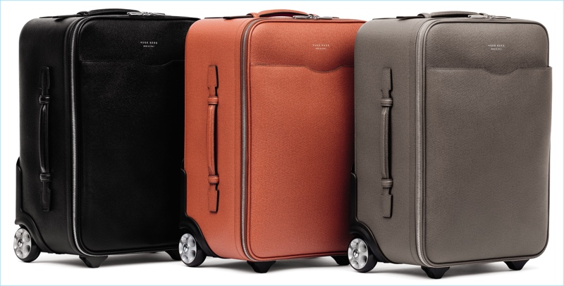BOSS Hugo Boss offers luggage in black, orange, and grey for its spring-summer 2017 travel line.