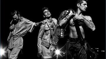 Gabriel Aubry, Jon Kortajarena, and Tony Ward star in Balmain's spring-summer 2017 campaign.