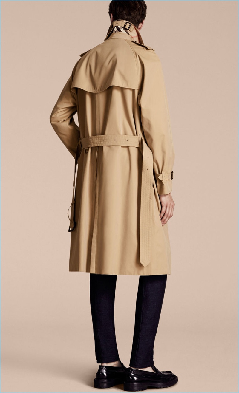 Burberry Men's Trench Coat Picture of Back