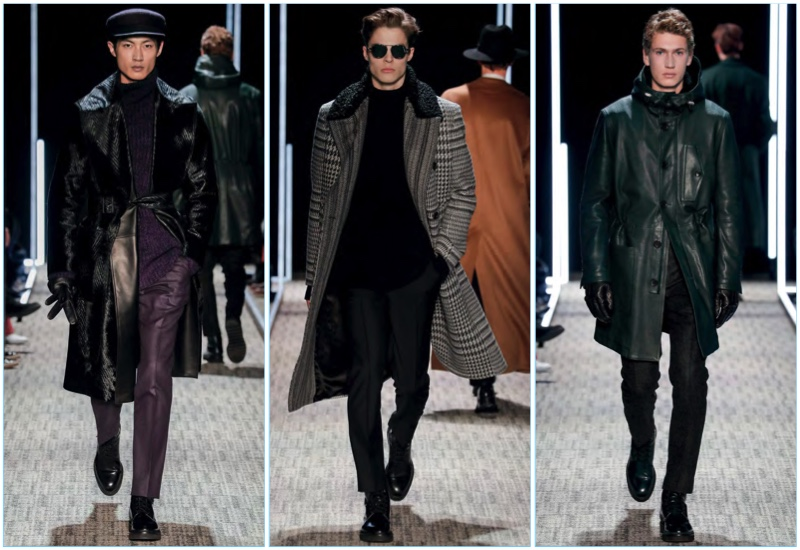 Cerruti presents its fall-winter 2017 men's collection during Paris Fashion Week.
