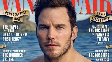 Chris Pratt Shirtless Vanity Fair February 2017 Cover