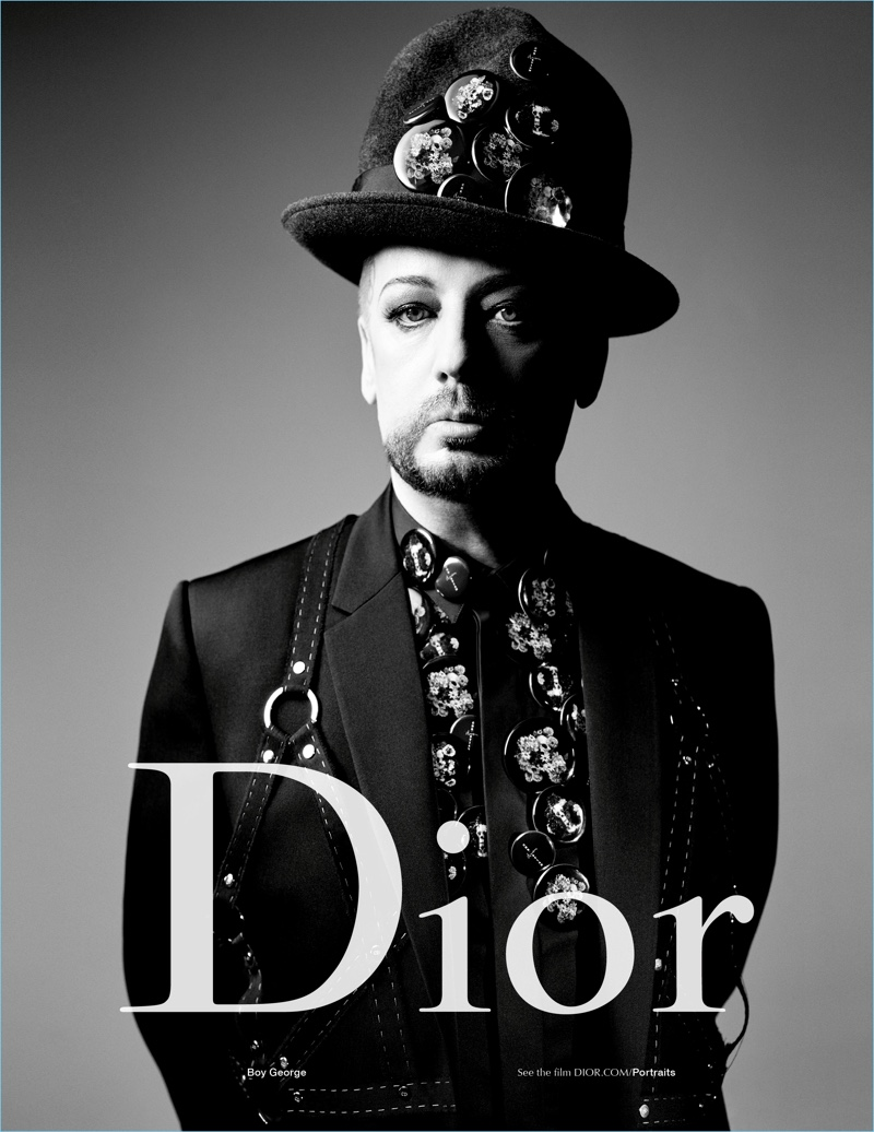Music icon Boy George stars in Dior Homme's spring-summer 2017 campaign.