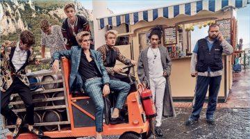 Gabriel-Kane Day-Lewis, Rafferty Law, Cameron Dallas, Presley Gerber, Brandon Thomas Lee, and Luka Sabbat front Dolce & Gabbana's spring-summer 2017 campaign.