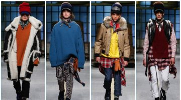 Dsquared2 presents its fall-winter 2017 men's collection during Milan Fashion Week.