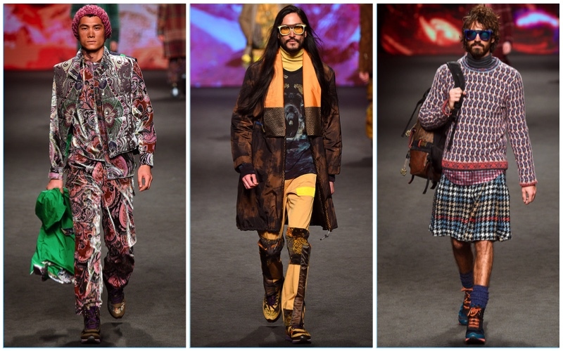 Etro presents its fall-winter 2017 men's collection during Milan Fashion Week.