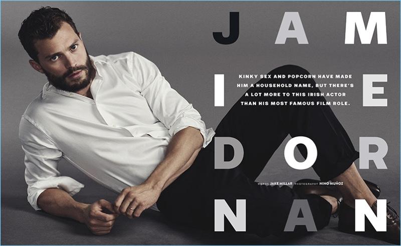 Nino Muñoz photographs Jamie Dornan in Neil Barrett for GQ Australia.