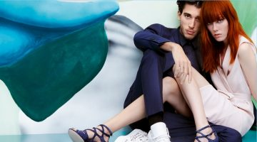 Models Kiki Willems and Lou Gaillot star in Jimmy Choo's spring-summer 2017 campaign.