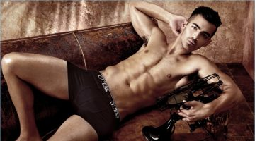 DNCE frontman, Joe Jonas strips down to his underwear for GUESS' spring-summer 2017 campaign.