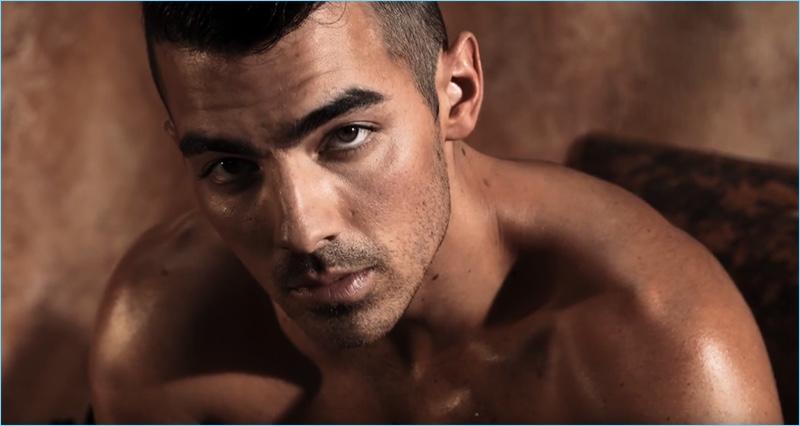 Shooting the GUESS Underwear campaign, Joe Jonas appears before the lens of photographer, Yu Tsai.