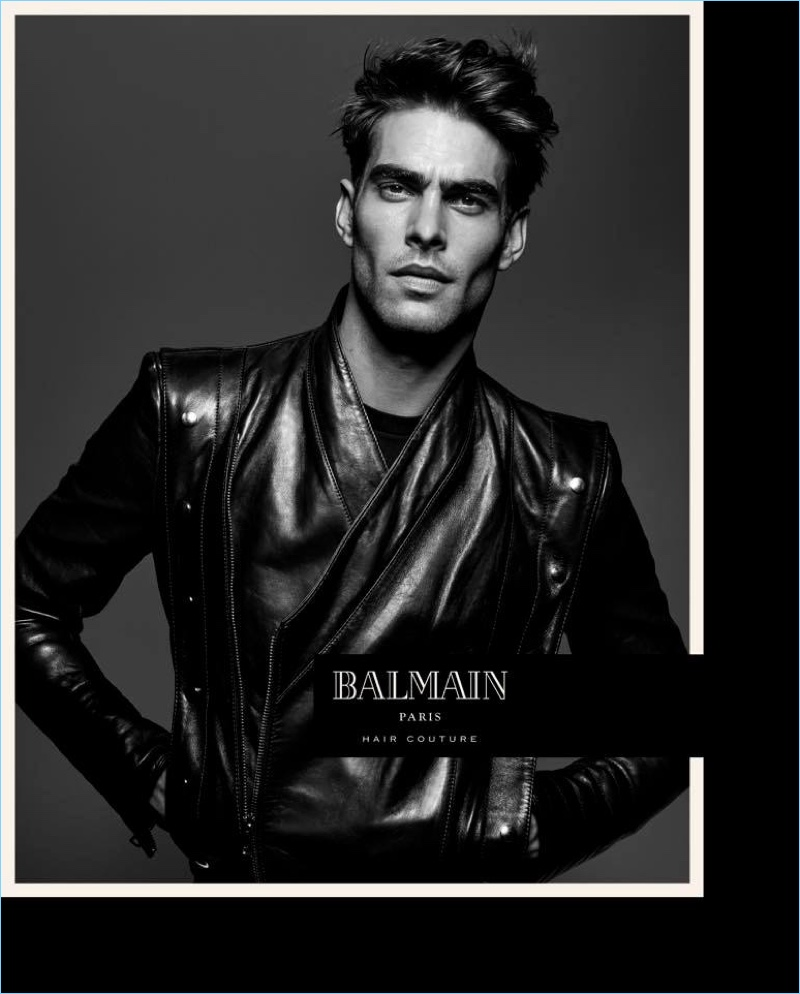 Jon Kortajarena stars in Balmain Paris Hair Couture's spring-summer 2017 campaign.