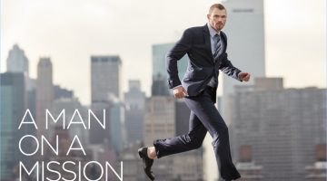 Actor Kellan Lutz is a Man on a Mission for Geoffrey Beene's advertising campaign.
