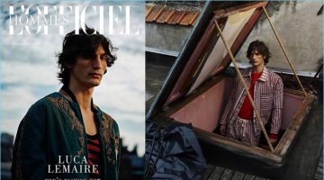 Luca Lemaire stars in L'Officiel Hommes Italia's latest cover story.