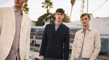 Double-breasted blazers, striped shirts, shorts, and more are front and center for Mango Man's spring-summer 2017 campaign.