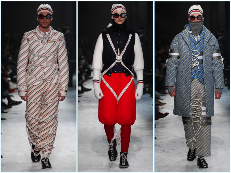 Moncler Gamme Bleu presents its fall-winter 2017 men's collection during Milan Fashion Week.