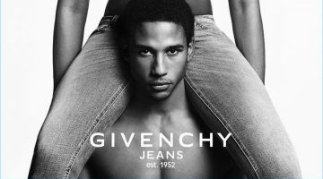 Naomi Campbell and Justin Levy star in Givenchy Jeans' spring-summer 2017 campaign.