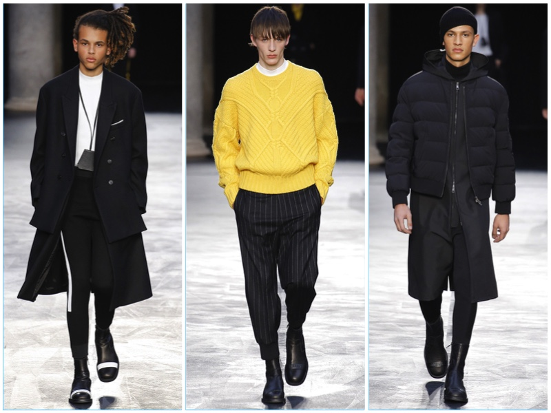 Neil Barrett presents its fall-winter 2017 men's collection during Milan Fashion Week.