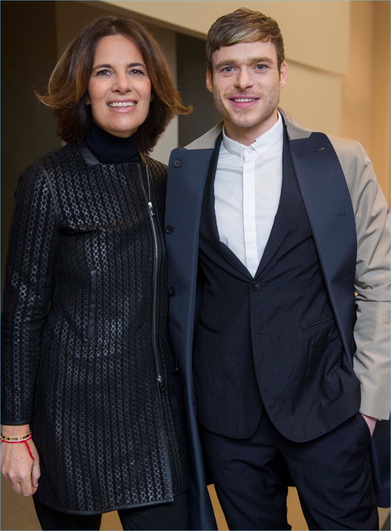 Roberta Armani poses for pictures with Richard Madden.