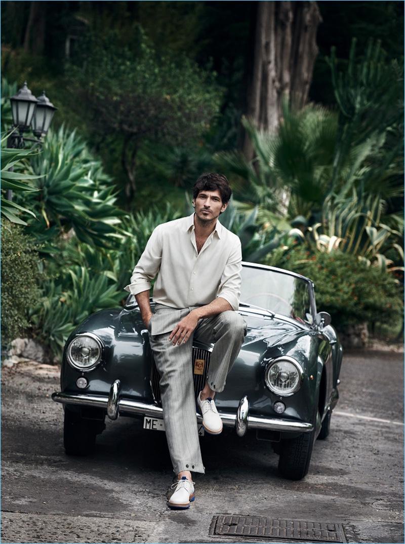 Andres Velencoso stars in Salvatore Ferragamo's spring-summer 2017 campaign.
