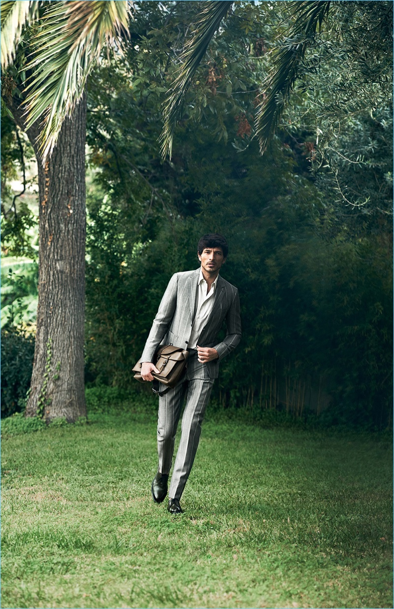 Peter Lindbergh photographs Andres Velencoso for Salvatore Ferragamo's spring-summer 2017 campaign.